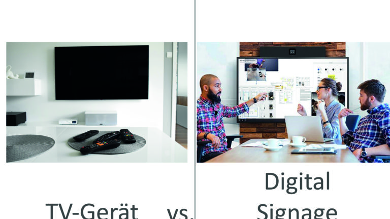 Unterschiede TV und Display