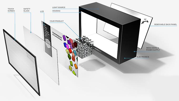 Hypebox: Das transparente Display – Für mehr Aufmerksamkeit